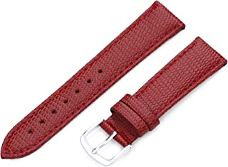 Hadley-Roma 18mm `Women`s` Leather Watch Strap, Color:red (Model: LSL725RQ 180)