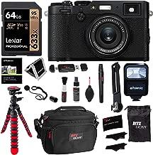 Fujifilm X100F 24.3 MP APS-C Digital Camera - Black, Polaroid 64GB Memory, Polaroid Flash, Ritz Gear Tripod, Cleaning Kit, Camera Case, Card Reader, Polaroid Screen Protector and Accessory Bundle