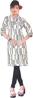 VOXVIDHAM Kurti Women's Cotton Printed Short Length Half Sleeve Straight Kurti