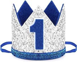 NUOVO 1st Compleanno Corona in Tessuto Blu