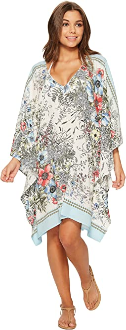Wildflower V-Neck Caftan Cover-Up