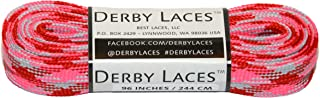 Derby Laces Pink Camouflage 96 Inch Waxed Skate Lace for Roller Derby,  Hockey and Ice Skates,  and Boots