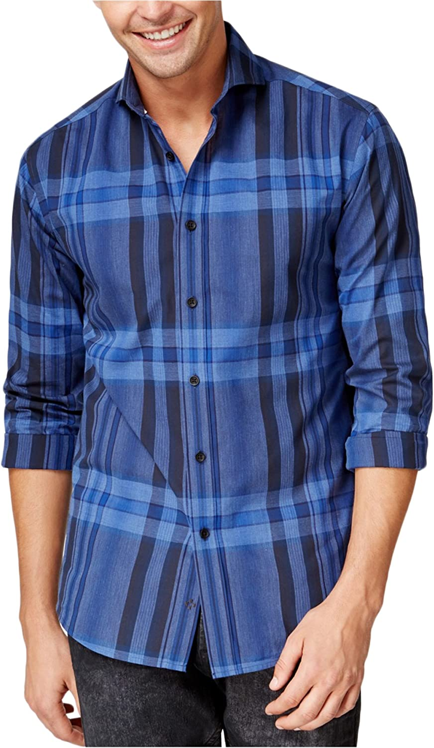 Vince Camuto Men's Patterned Long-Sleeve Button-Front Shirt