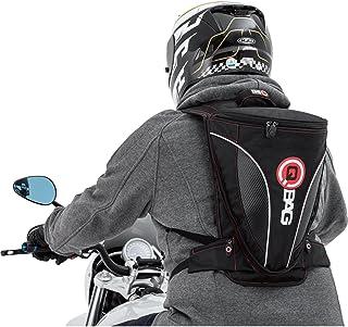 QBag Mochila de Motocicleta Hombres y Mujeres Mochila 13, 7-12 litros de Espacio de Almacenamiento Negro/Mirada de Carbono, Unisex, Multiuso, Todo el año, Poliamida