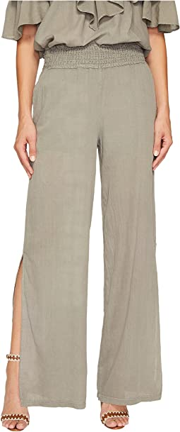 Janis Twill Voile Split Side Wide Leg Pants