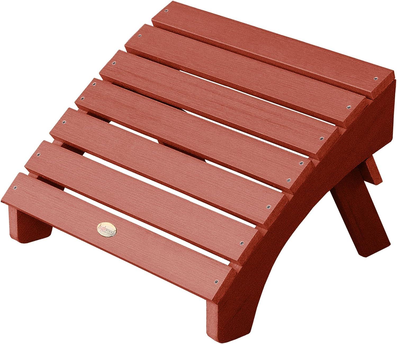 期間限定の激安セール 当店は最高な サービスを提供します highwood AD-OTL1-RED Adirondack Folding Ottoman Rustic R Adult