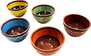Cactus Canyon Ceramics Spanish Terracotta 5-Piece Breakfast Bowl Set (European Size), Multicolor