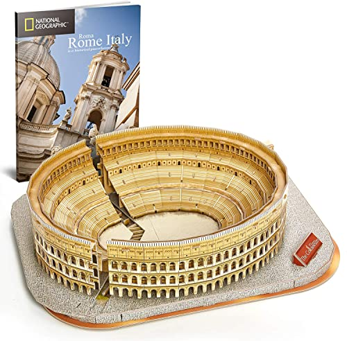 discount CubicFun wholesale National Geographic 3D Puzzle for Adults Kids Rome Colosseum Jigsaw Italy Architecture Model Kits DIY online Toys with Booklet Gift for Boys Girls Age 10+, 131 Pieces online