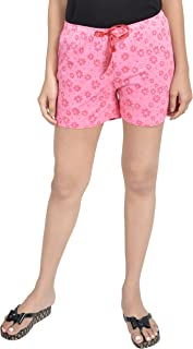 A9- Women Printed Pink Shorts