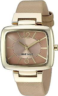 Nine West Women's Goldtone Rectangular Strap Watch