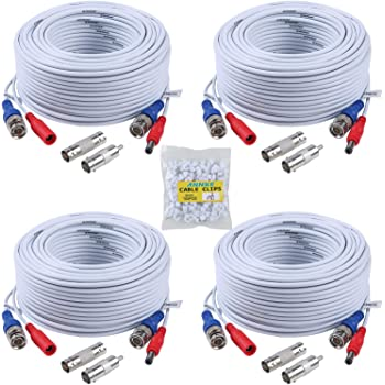 Premium Quality 4x25Ft Video and Power Cable for Swann  CCTV Security Cameras