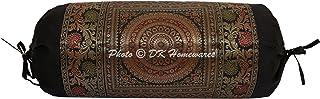 DK Homewares Indien Traditionnel Chambre Méditation Soie Polydupion Taie d'oreiller de traversin 15x30 Brocart Jacquard Ma...