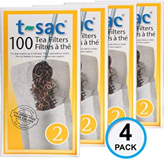 Modern Tea Filter Bags, Disposable Tea Infuser, Size 2, Set of 400 Filters - 4 Boxes - Heat Sealable, Natural, Easy to Use Anywhere, No Cleanup – Perfect for Teas, Coffee & Herbs - from Magic Teafit