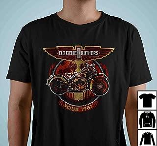 Doobie Brother Motorcycle Tour 1987 Vintage T Shirt Long Sleeve Sweatshirt Hoodies