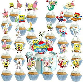Amazon Com Cake Cupcake Toppers Spongebob Squarepants Cake Cupcake Toppers Party Toys Games