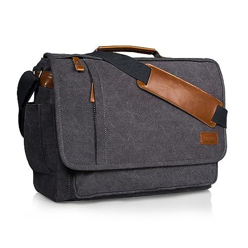 46041d550e0f Estarer Computer Messenger 17-17.3 Inch Water-Resistance Canvas Laptop Shoulder  Bag for Travel