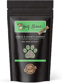 Half Baked Organic Hemp Dog Treats - Calming and Anxiety Relief - Organically Grown, Soft Chew Treats