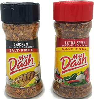 Mrs. Dash No Salt Seasoning Chicken and Extra Spicy Bundle (1 each 2.5 ounce bottle)