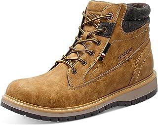 أحذية JIASUQI للرجال للمشي في الهواء الطلق مقاومة للماء أحذية طويلة معزول الجليد أحذية العمل