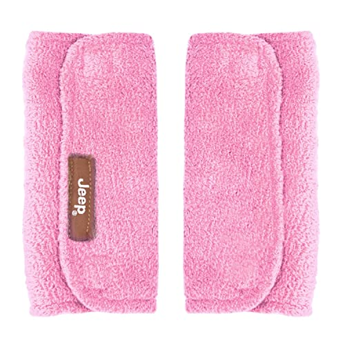 Jeep Car Seat Strap Covers 2 Pack, Plush Pink - Styles May Vary