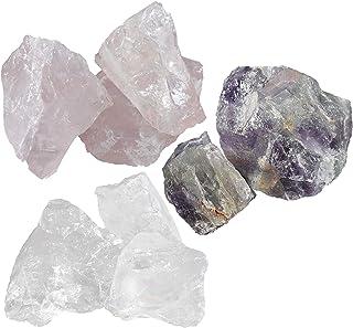 Navaris Piedras de agua naturales - Cristales de agua para energía positiva tranquilidad y armonía - Cuarzo rosa amatista ...
