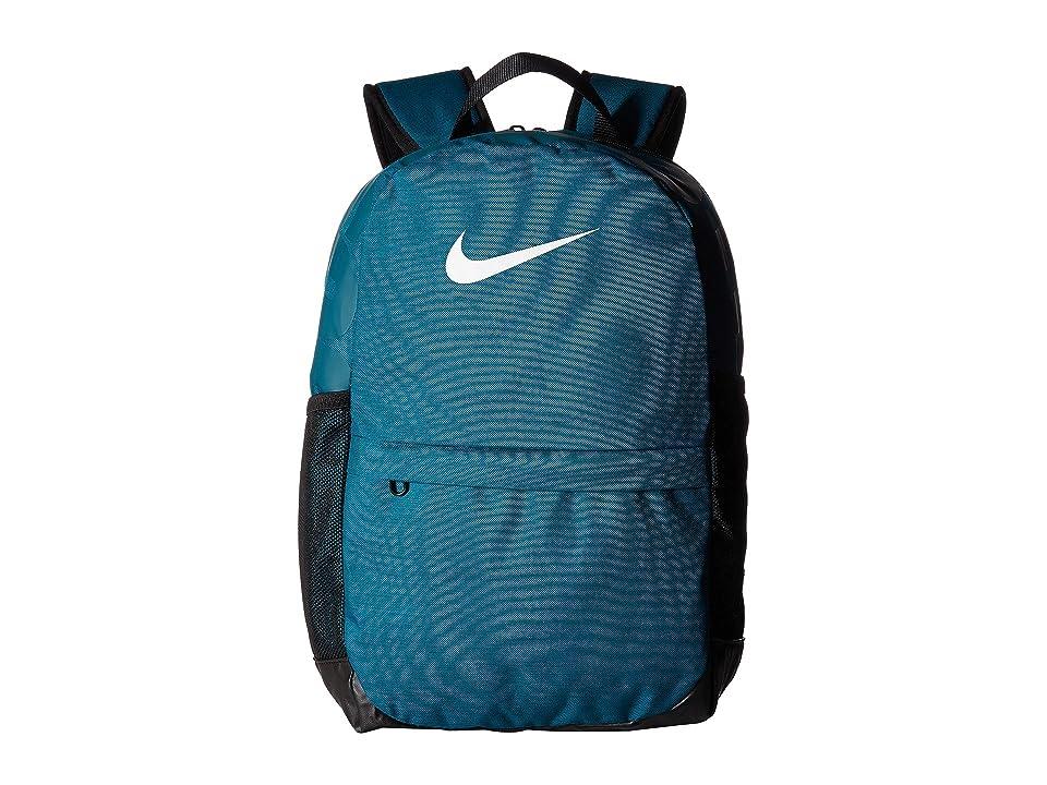 Nike Kids Brasilia Backpack (Little Kids/Big Kids) (Geode Teal/Black/White) Backpack Bags