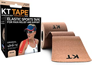 """Best KT Tape Original Cotton Elastic Kinesiology Therapeutic Athletic Tape, 20 Pack, 10"""" Cut Strips Review"""