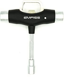 Emfiss Skateboard All-in-One Skate T Tool with Griptape File and Bottle Opener