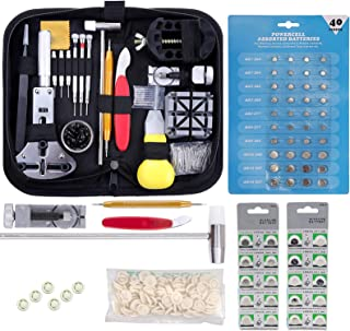 342pcs Watch Repair Kit, Watch Repair Tools Professional Spring Bar Tool Set, Watch Band Link Pin Tool Set with Carrying Case, Watch Battery Replacement Kit, Finger Protectors -Watch Tool Set