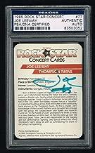 Joe Leeway Thompson Twins signed autograph auto 1985 Rock Star Concert Card