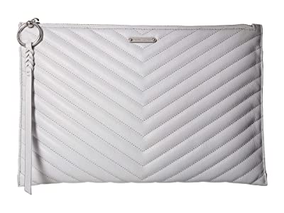 Rebecca Minkoff Edie Large Zip Clutch (Ice Grey) Clutch Handbags