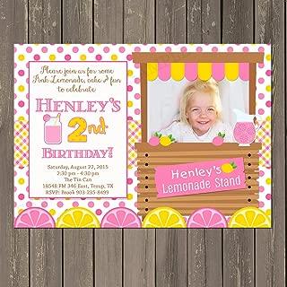 pink lemonade stand invitations