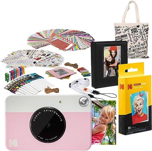 2021 Kodak PRINTOMATIC Instant lowest Print Camera (Pink) popular Deluxe Bundle outlet online sale