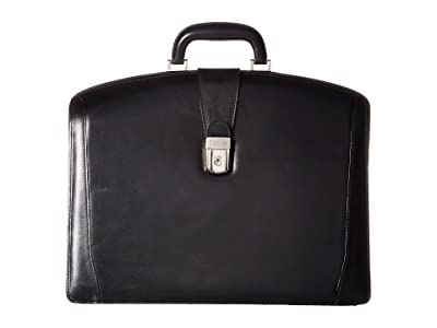 Bosca Old Leather Collection Partners Brief (Black Leather) Briefcase Bags
