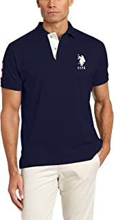 Men's Short-Sleeve Polo Shirt with Applique