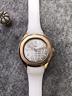 Luxury Brand Stainless Steel Gold Color White dial White Rubber Automatic (self-Wind) Aqua Watch Watches