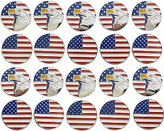Stanley Apparel Golf Ball Putting Marker Metallic USA Flag Lot of 20