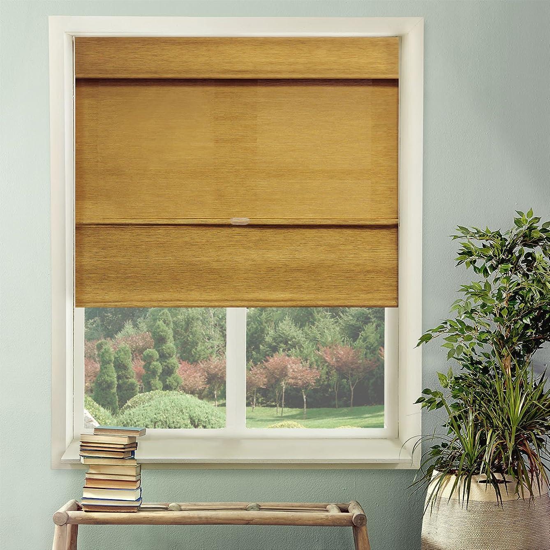 Chicology Cordless Magnetic Roman Shades / Window Blind Fabric Curtain Drape