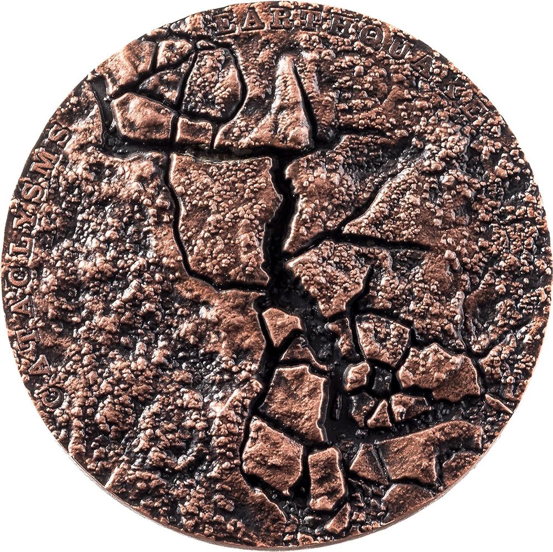 Power Coin Earthquake Erdbeben Nepal Cataclysms 1 Oz Silber Münze 2  Fiji 2017