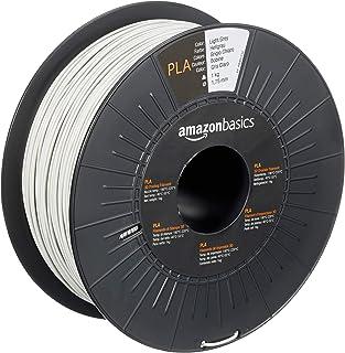 Amazon Basics filament do drukarki 3D z tworzywa sztucznego PLA, 1,75 mm, jasnoszary, szpula 1 kg