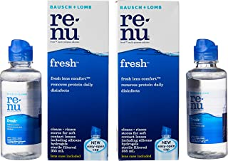 Bausch & Lomb Renu Fresh Multi-Purpose Solution Twin Pack with Gifts, 355ml + 120ml, (Pack of 2)