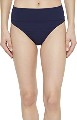Pearl Wide-Band High-Waist Bikini Bottom