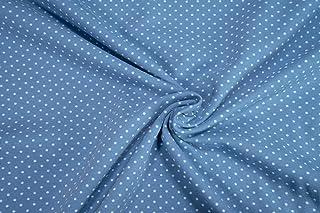 Mollipolli Jersey Little Darling - Tela de algodón (0,5 m), diseño de Puntos Azules