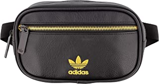 adidas Originals Unisex PU Leather Waist Pack, Black/Gold, ONE SIZE