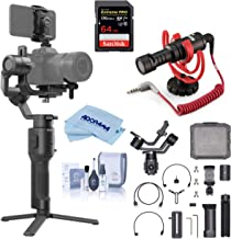 DJI Ronin-SC Handheld 3-Axis Gimbal Stabilizer for Mirrorless Camera Compatible with Sony Panasonic Lumix Nikon Canon, Pro Audio Bundle with RODE VideoMicro Mic + 64GB SD Card + Cleaning Kit