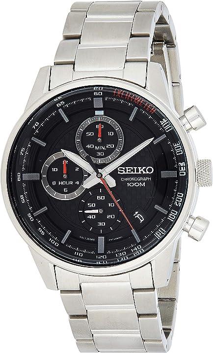 Orologio seiko orologio cronografo quarzo uomo con cinturino in acciaio inox SSB313P1