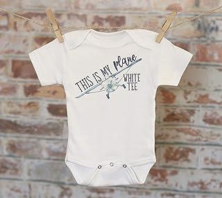 This Is My Plane White Tee Onesie®, Funny Onesie, Boy Onesie, Cute Baby Bodysuit, Airplane Onesie, Boho Baby Onesie, Jokes Onesie
