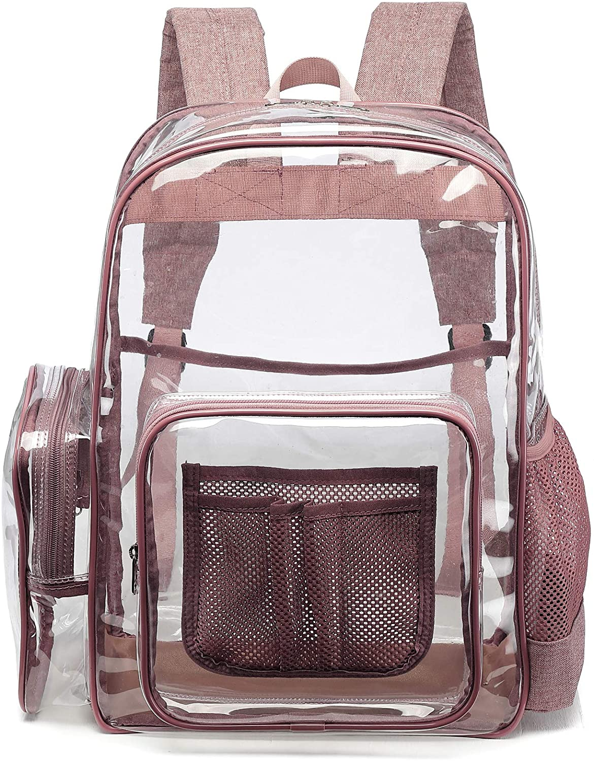 Clear Backpack, F-color Heavy Duty PVC Transparent Clear Bag for Stadium, School