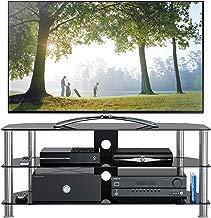"""1home Mobile Porta TV di Vetro Nero per LCD LED e Plasma TV da 32"""" a 70"""" GT5"""