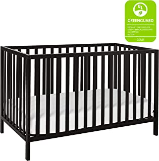 Union 2-in-1 Convertible Crib, Ebony Black